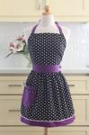 Black-purple apron via Etsy