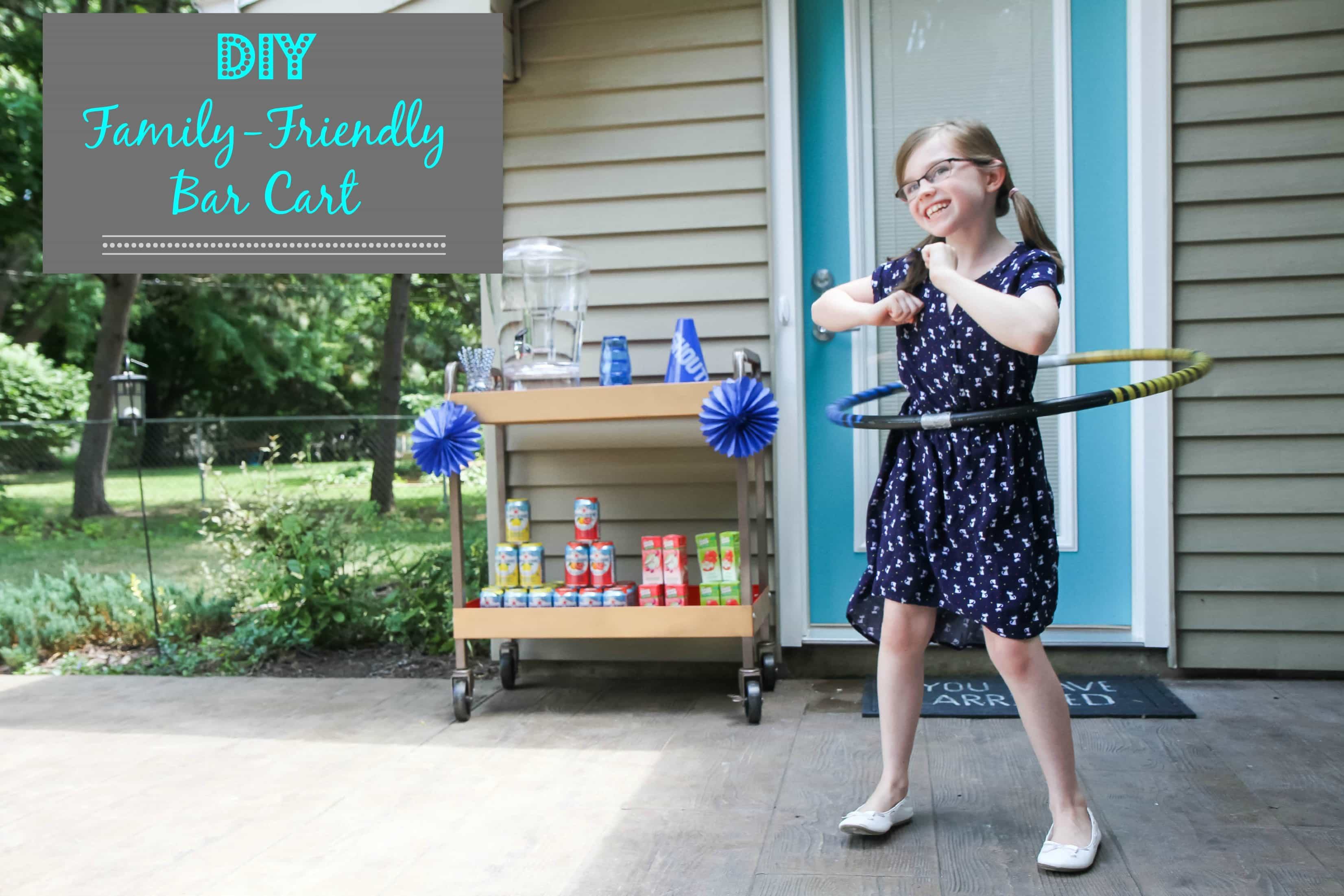 DIY Family-Friendly Bar Cart