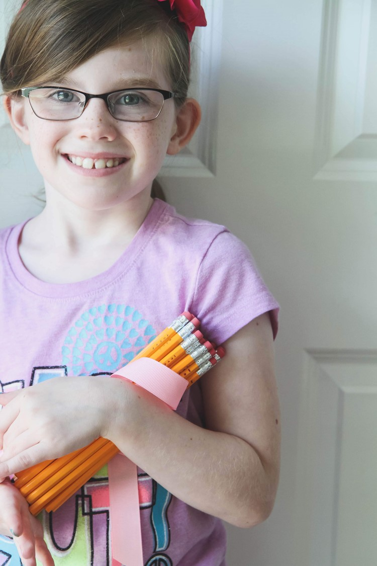 How to Make DIY Personalized Stamped Pencils from MomAdvice.com.