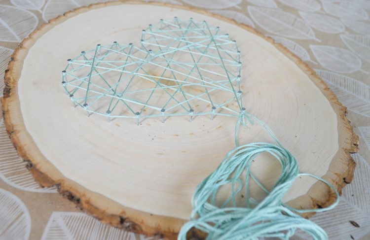 Diy String Art Pattern Free Heart Template Momadvice