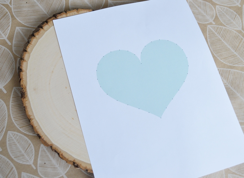 DIY heart string nail art with free printable template