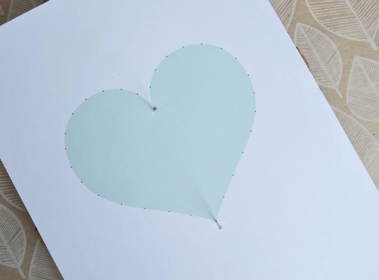 diy string art pattern  free heart template