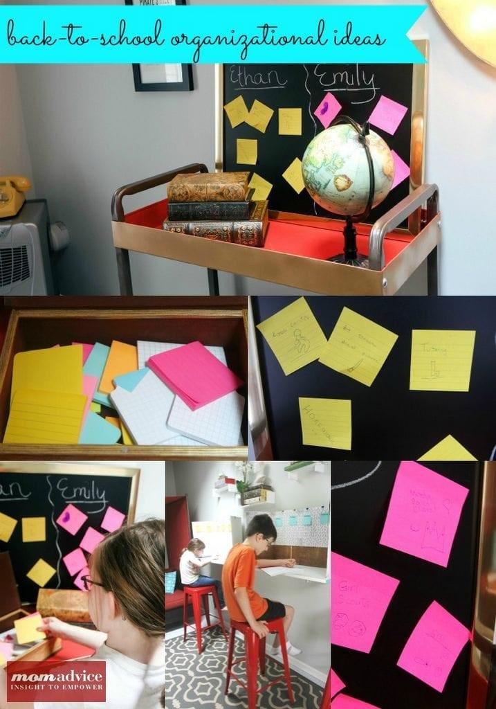 Back to School Organization Ideas from MomAdvice.com.