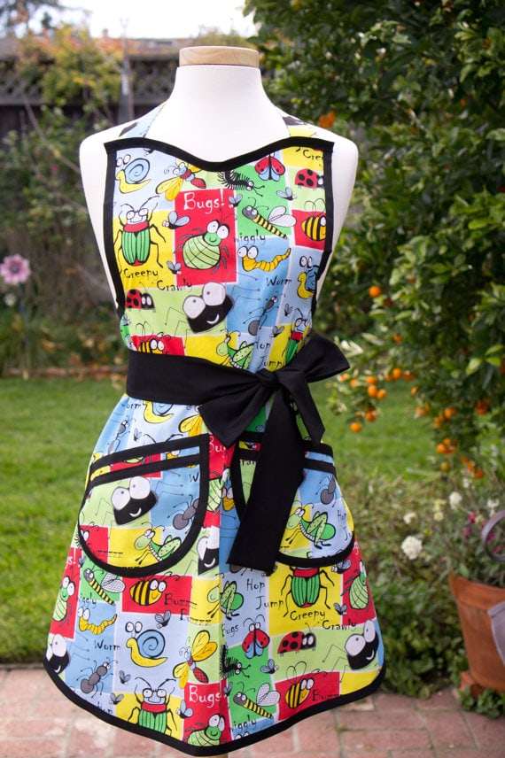 Bug Apron via Etsy