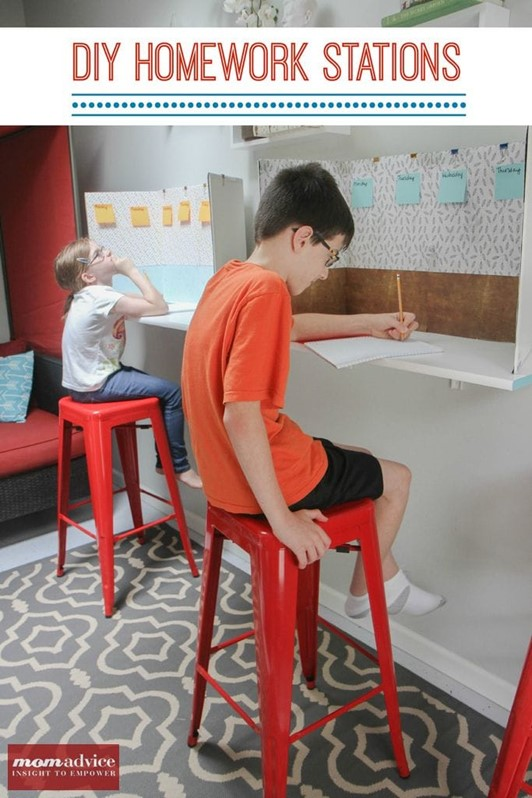 Easy DIY Homework Stations