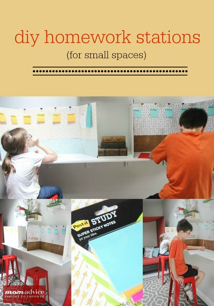 Easy DIY Homework Stations from MomAdvice.com