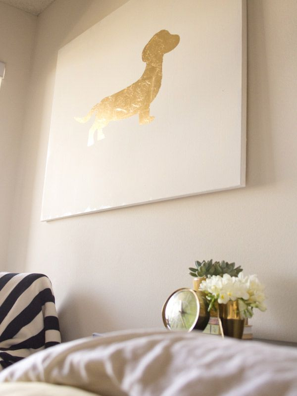 Gold Leaf Art via Lovely Indeed