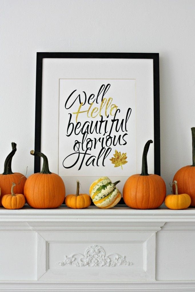Hello Fall Printable via Nest of Posies