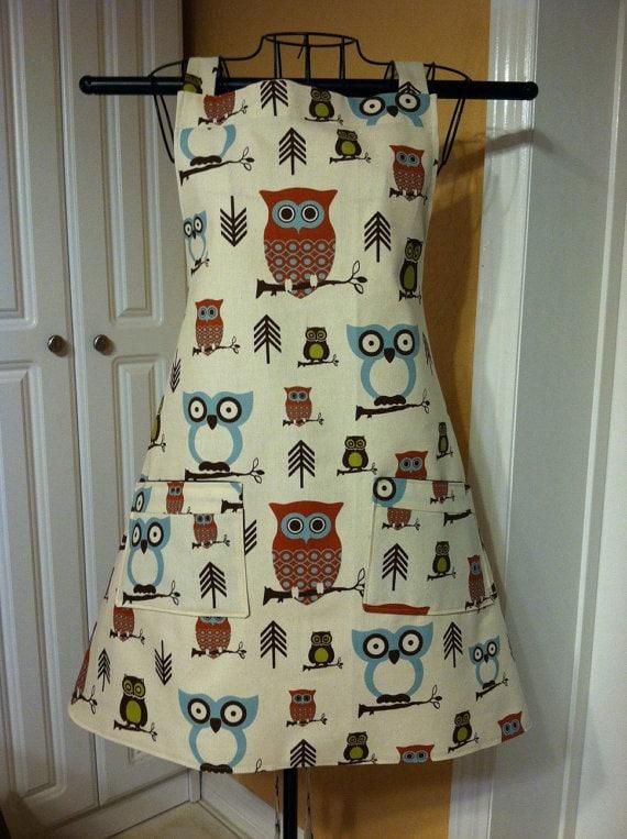 Owl Apron via Etsy2