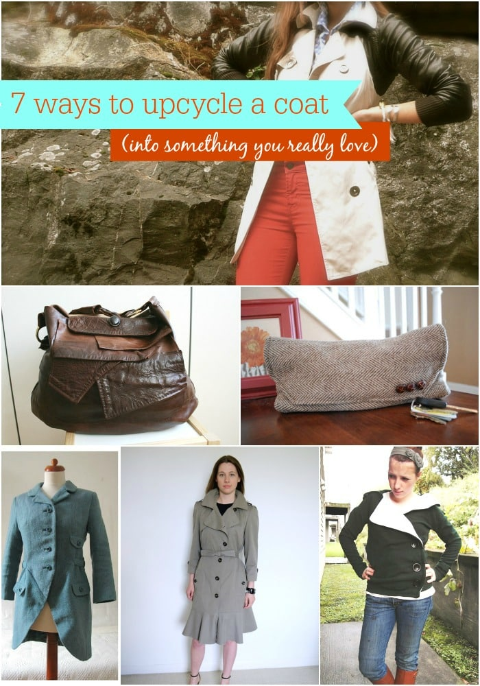 7 Ways to Upcycle a Coat Into Something You Really Love from MomAdvice.com