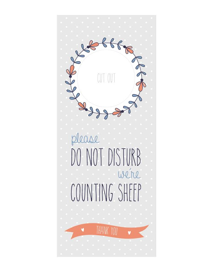 Free Do Not Disturb Door Hangers « Momadvice