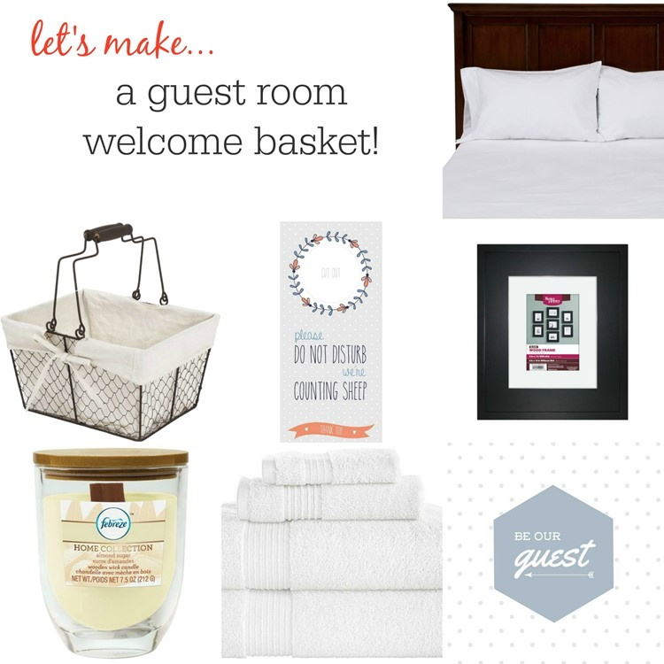 Make a Guest Room Welcome Basket (With 5 FREE Printables)