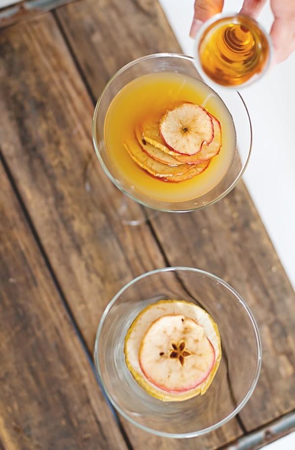 Apple Chip Burbon Cider via A Subtle Revelry
