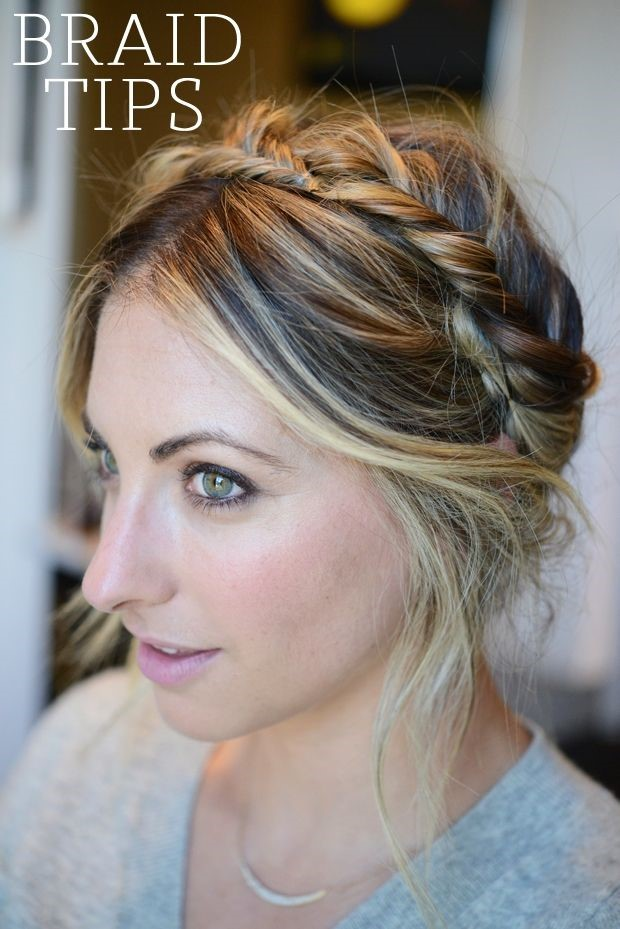 Braided Hair Tips via Cupcakes and Cashmere