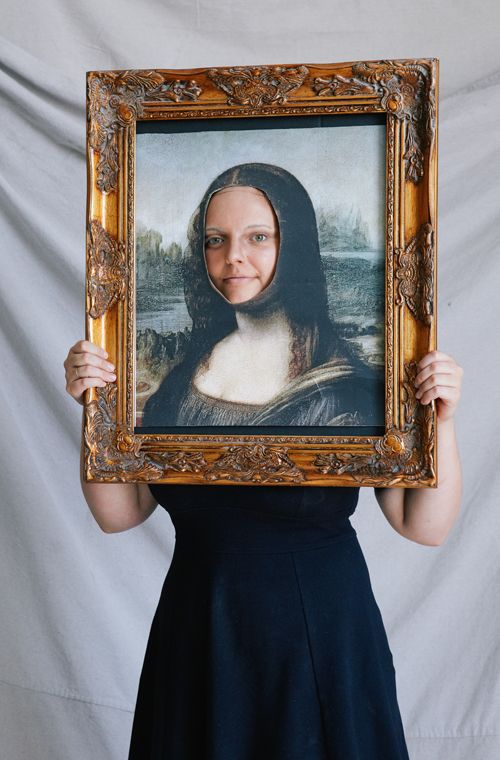 DIY Mona Lisa Halloween Costume via The House That Lars Built