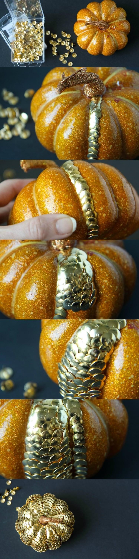 DIY Thumbtack Pumpkins from MomAdvice.com