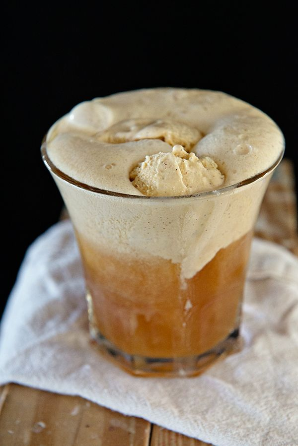 Hard Cider Pumpkin Float via Dine and Dish