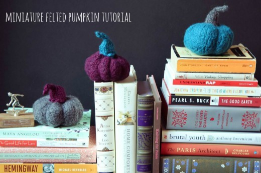 Miniature Felted Pumpkin Tutorial