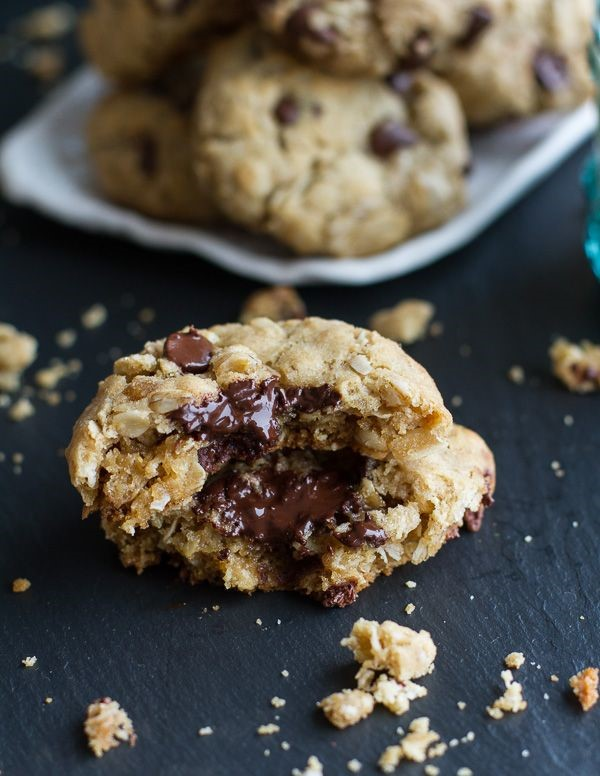 Oatmeal Chocolate Chip Cookies via Half Baked Harvest