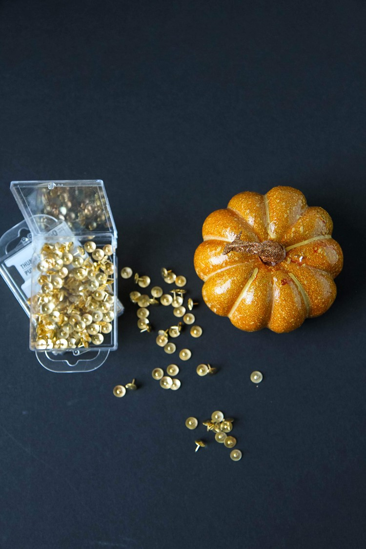Decorative Thumbtack Pumpkin Tutorial from MomAdvice.com