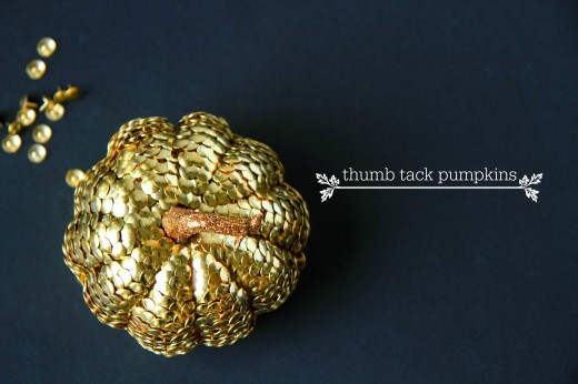 DIY Decorative Thumbtack Pumpkins