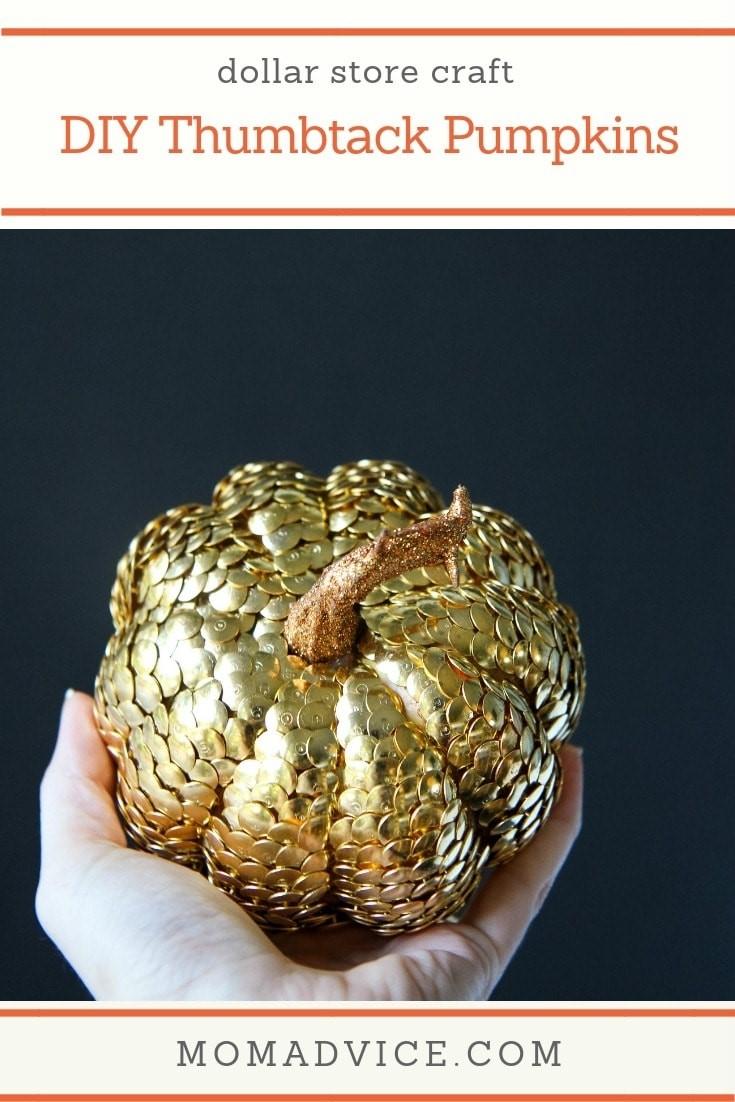DIY Thumbtack Pumpkins MomAdvice.com