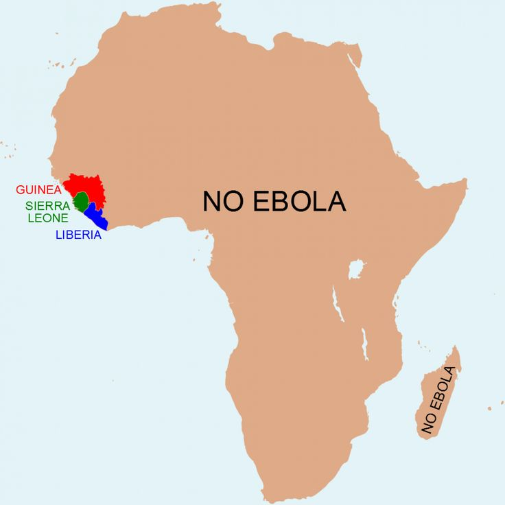 Africa without Ebola via Washington Post