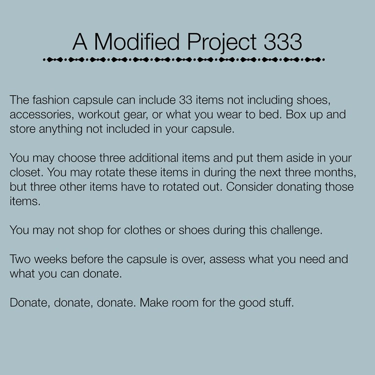 A Modified Project 333