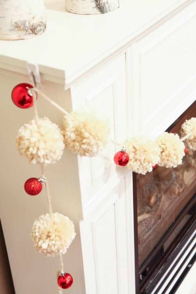 Yarn Pom-Pom & Ornament Garland from MomAdvice.com