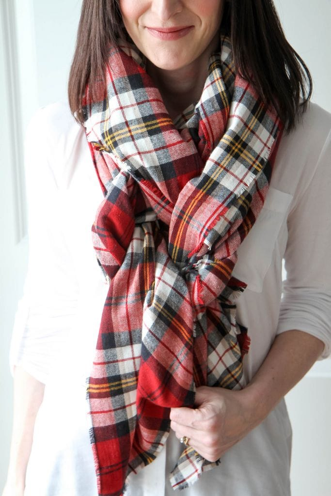 How to make a blanket scarf - it's easy!