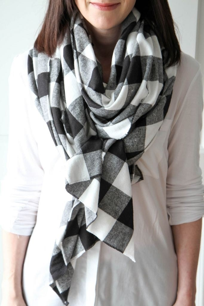 How to Make a Blanket Scarf from MomAdvice.com