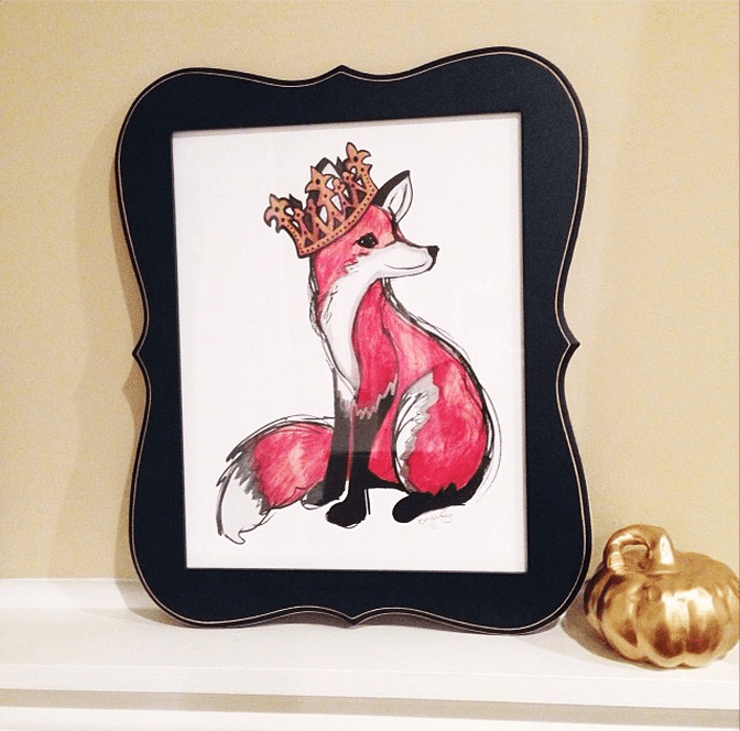 Royal Fox Print