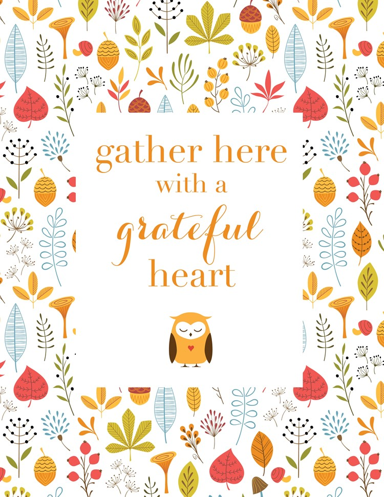Free Woodland Thanksgiving Printables & Decor Ideas