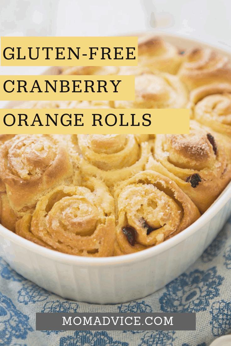 Gluten-Free Cranberry Orange Rolls