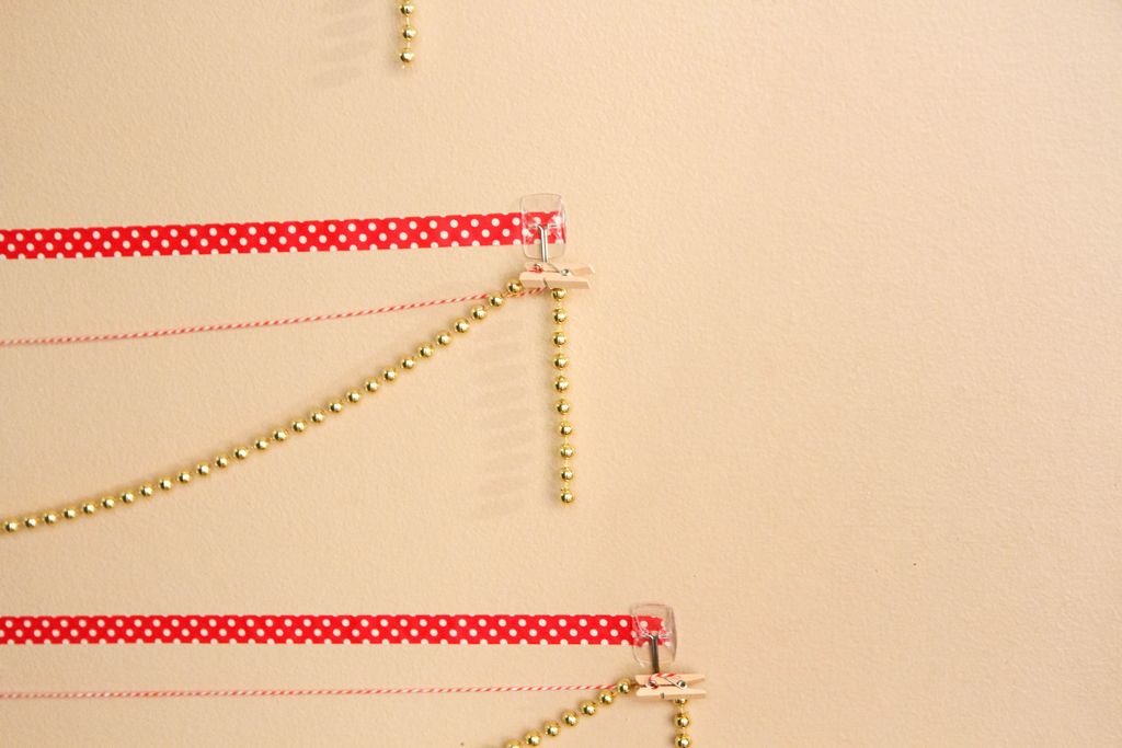 Washi Tape Christmas Tree Wall Card Display from MomAdvice.com