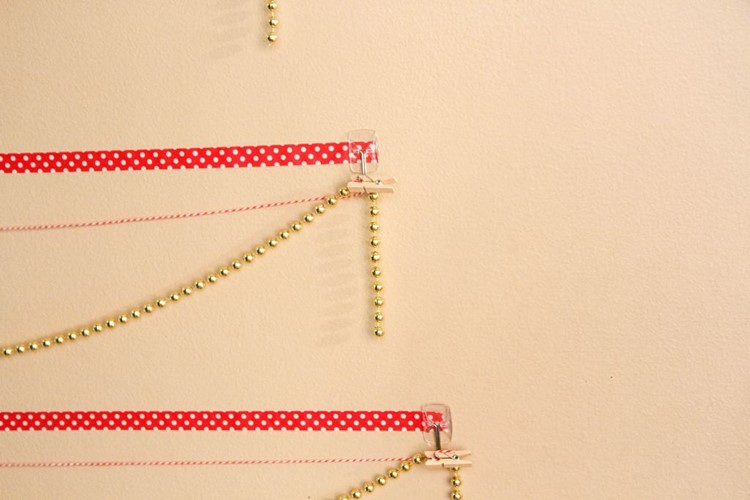 Washi Tape Christmas Tree Wall Card Display from MomAdvice.com
