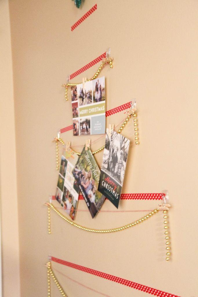 Washi Tape Christmas Tree Wall Card Display
