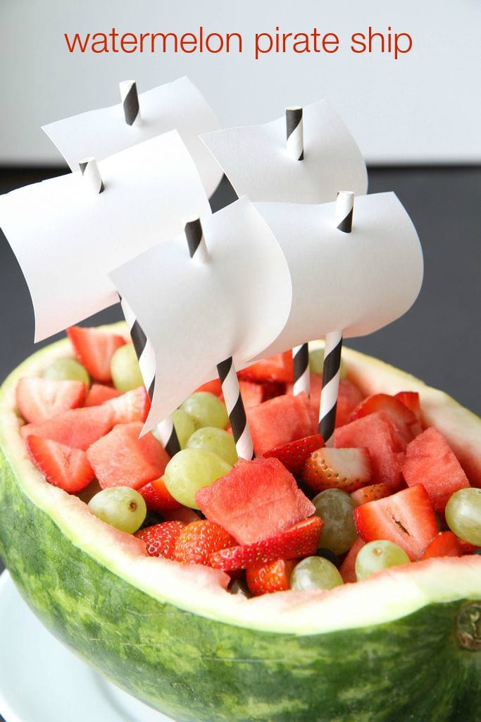 How to Make a Watermelon Pirate Ship from MomAdvice.com.