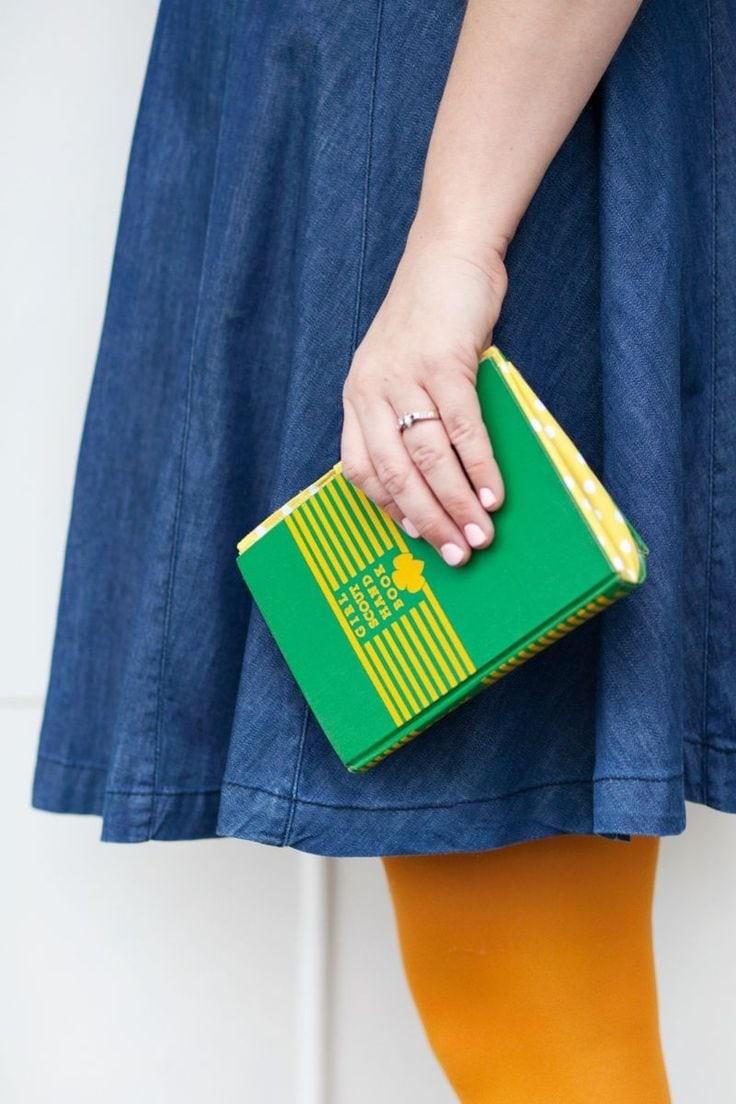 Book purse via A Beautiful Mess