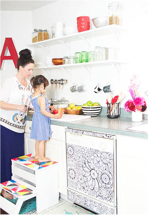 alisa-burke-in-the-kitchen via Design Mom