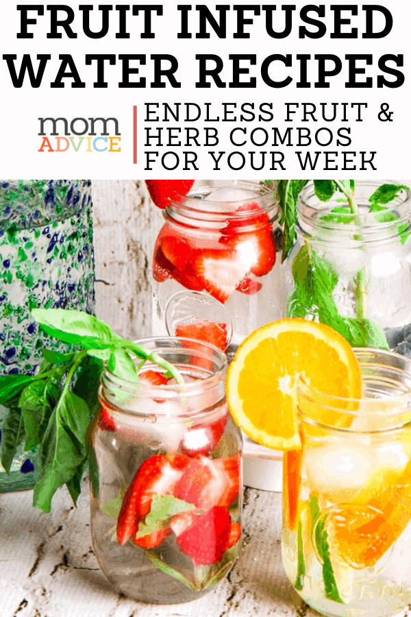 Easy Fruit Infused Water Recipes from MomAdvice.com