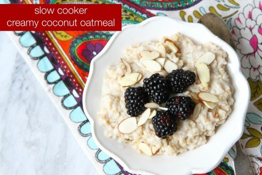 Slow Cooker Creamy Coconut Oatmeal