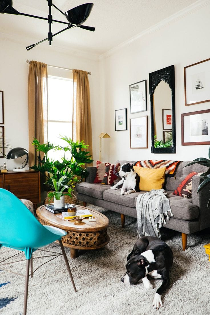 100 sq.ft living room via West Elm Blog