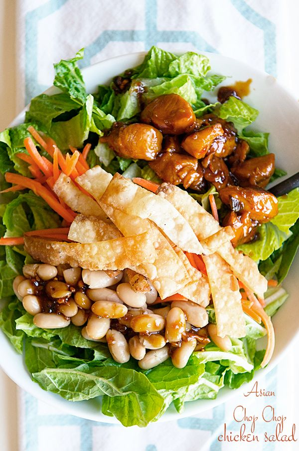 Asian chop chicken salad via Dine and Dish