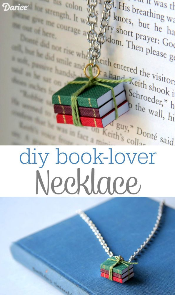 DIY book lover necklace via Darice
