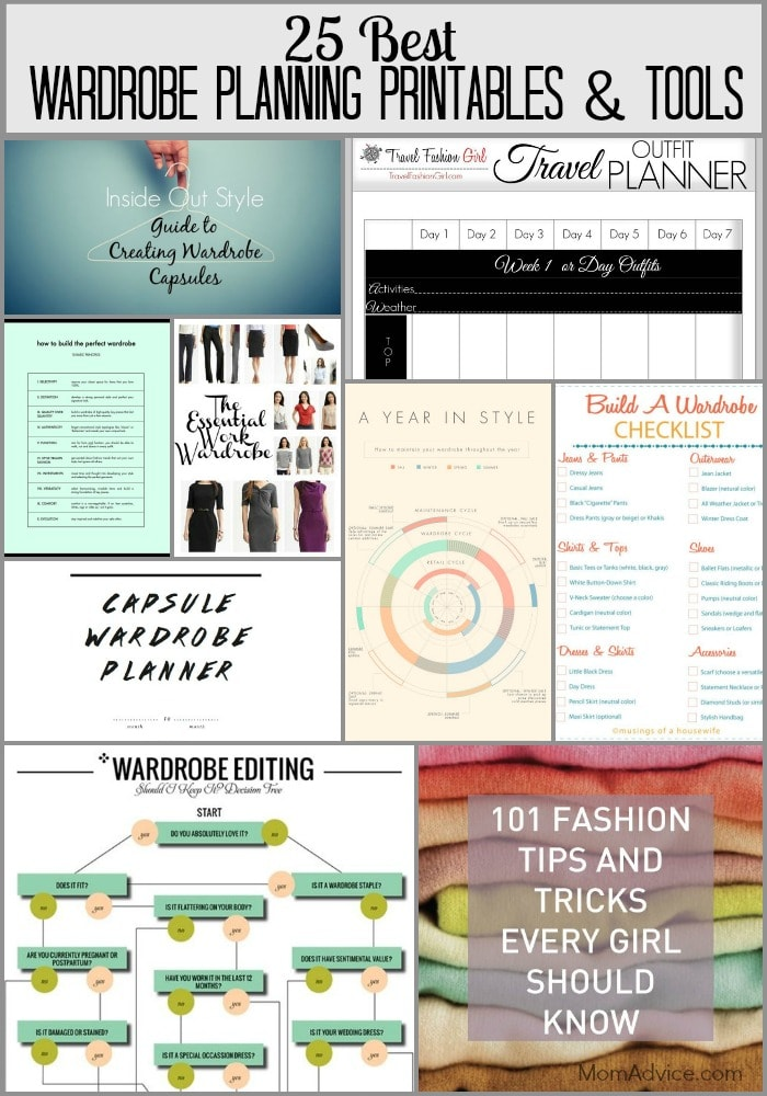 25 Best Wardrobe Planning Printables and Tools