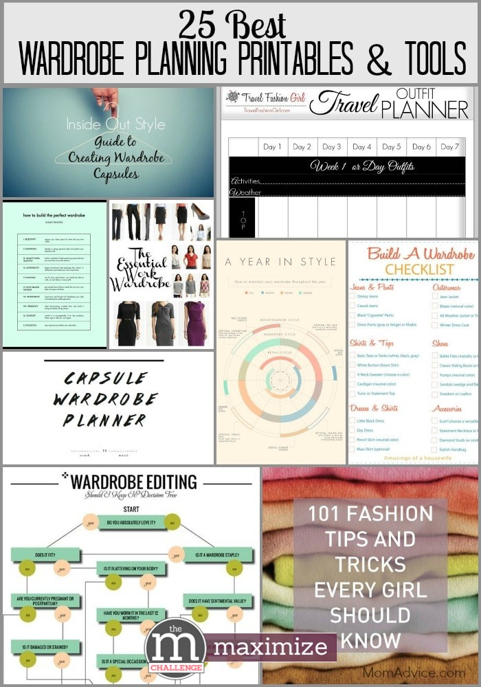 25 Best Wardrobe Planning Printable & Tools