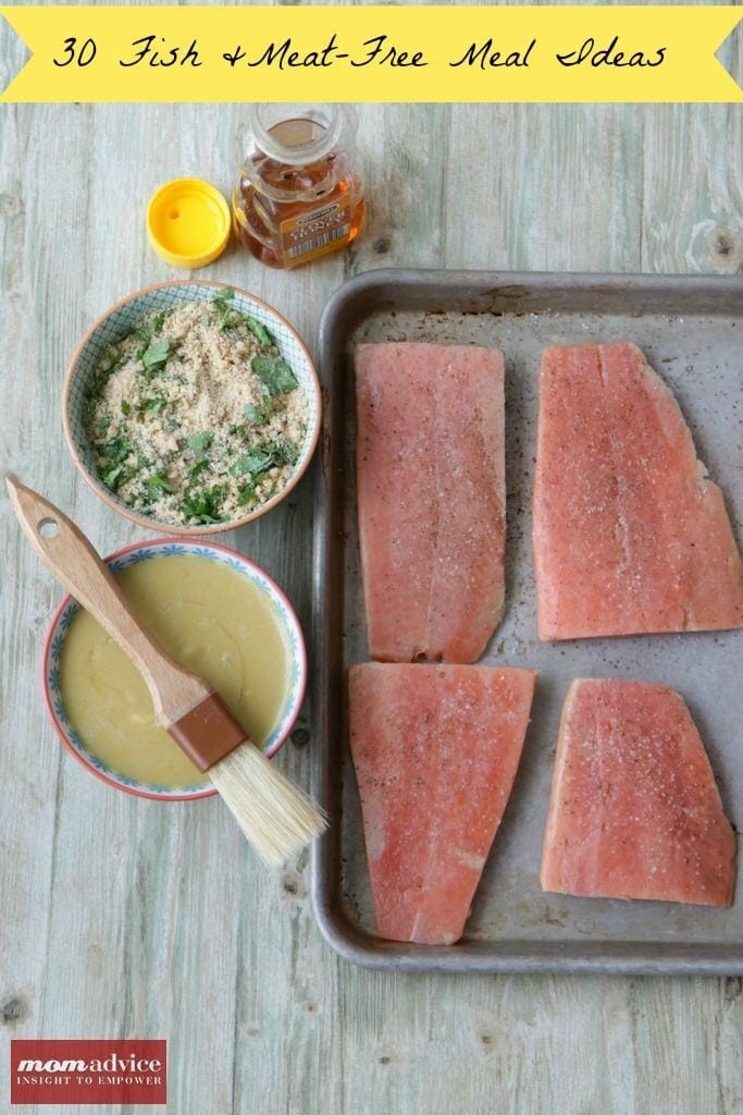 30 Fish & Meat Free Meal Ideas from MomAdvice.com.