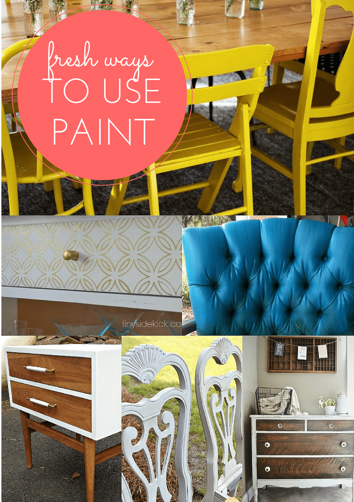 7 Fresh Furniture Painting Ideas from MomAdvice.com