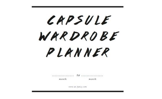 Capsule planner via Unfancy